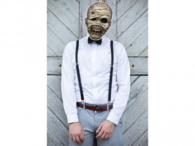 Masque papier cartonné momie-1