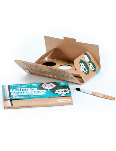 Kit maquillage 3 couleurs chien & panthère rose BIO Namaki Cosmetics ©