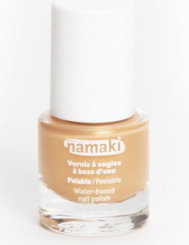 Vernis à ongles base eau pelable or 7,5 ml Namaki Cosmetics ©