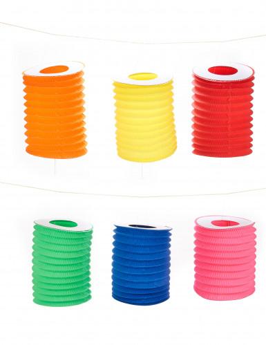 12 Lampions colorés 16 cm