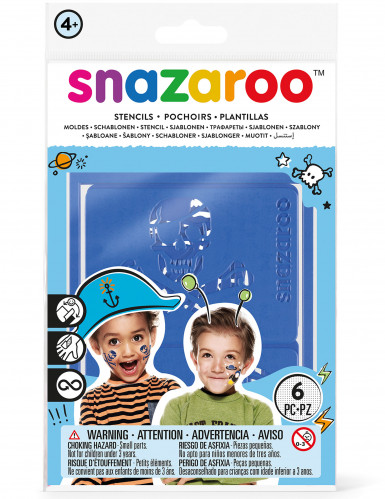 6 Pochoirs garçons Snazaroo™