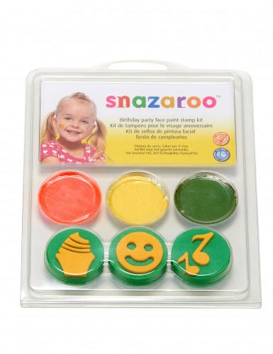 Mini kit maquillage et tampons modèle anniversaire Snazaroo™