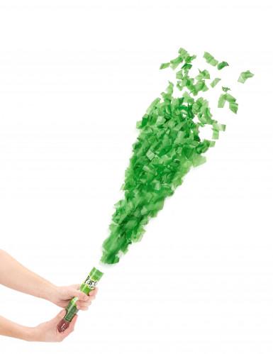 Canon à confettis verts 20 cm