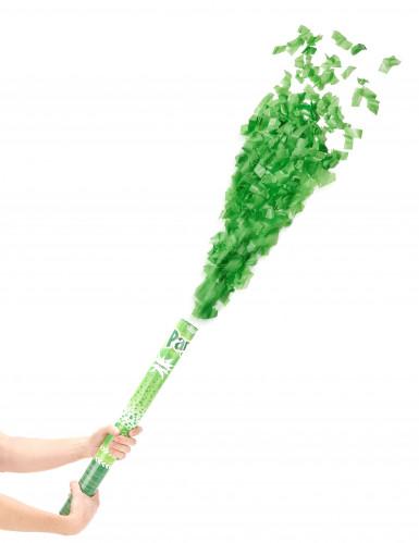 Canon à confettis verts 60 cm