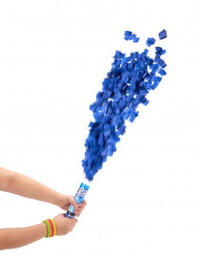 Canon à confettis bleus 20 cm