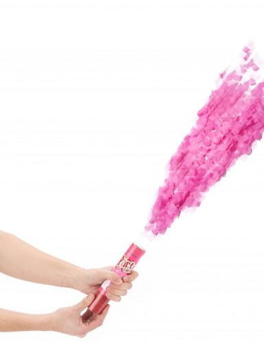 Canon à confettis roses 20 cm