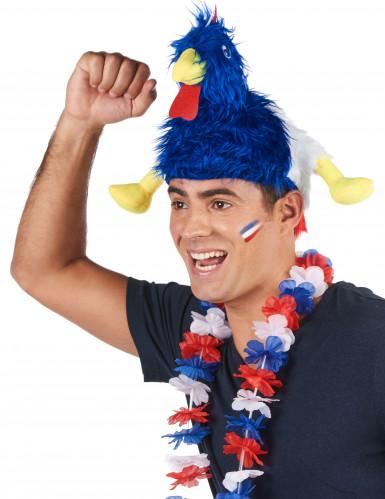 Chapeau coq supporter France adulte-1