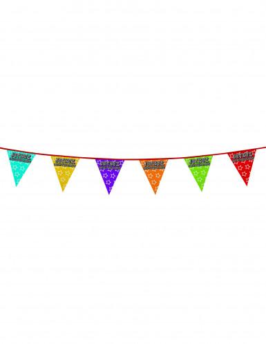 Guirlande fanions holographiques Joyeux anniversaire