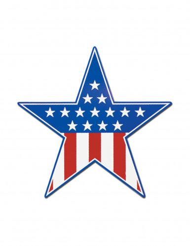 Décoration carton étoile USA 38 cm
