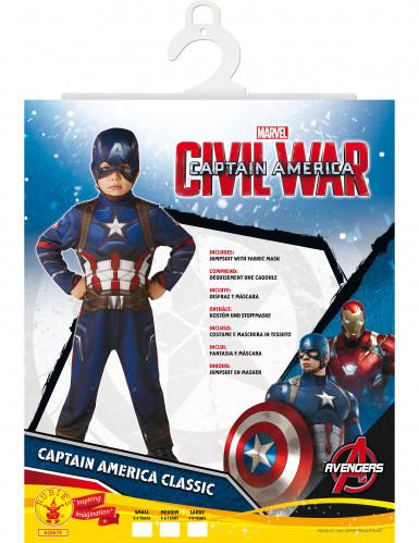 Déguisement Classique Captain America™ garçon - Civil War-1