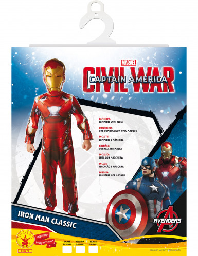 Déguisement Classique Iron Man™ garçon - Civil War-1