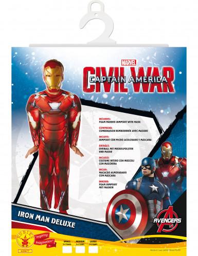 Déguisement rembourré Luxe Iron Man™ garçon - Civil War-1