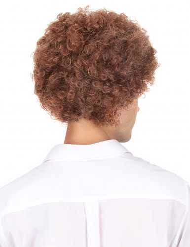 Perruque afro/clown marron standard adulte-2