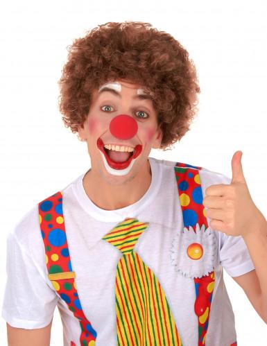 Perruque afro/clown marron standard adulte-1