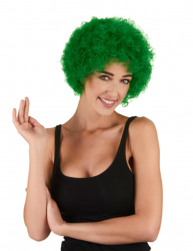 Perruque afro/clown verte standard adulte