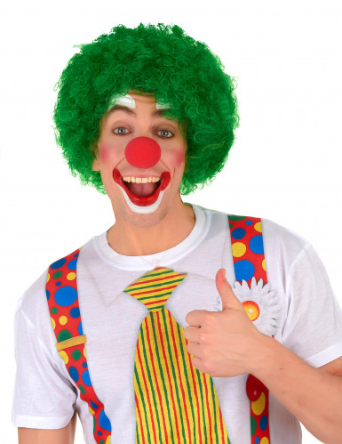 Perruque afro/clown verte standard adulte-1