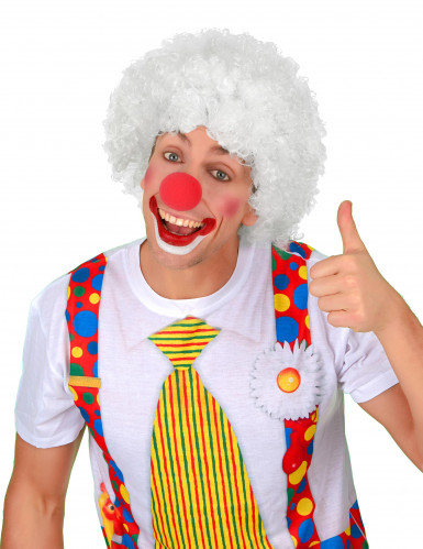 Perruque afro/clown blanche standard adulte-1