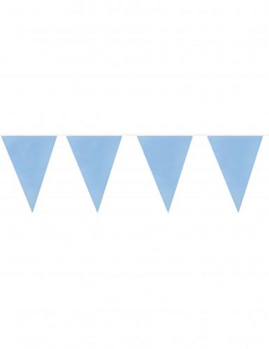 Guirlande 20 fanions bleu ciel 10 m