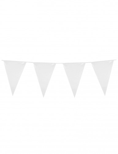 Guirlande à fanions blancs 10m