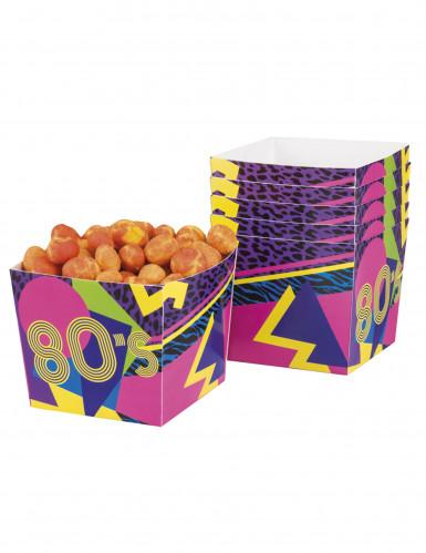 6 Pots à bonbons 80's Party 40 cl (9 x 7 cm)