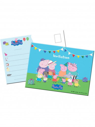 8 Cartes d'invitation Peppa Pig™