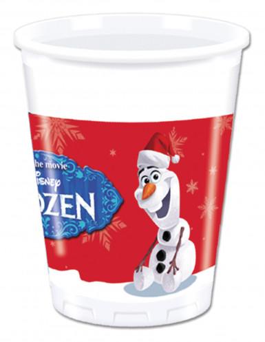 8 Gobelets en plastique Olaf Christmas™ 200ml