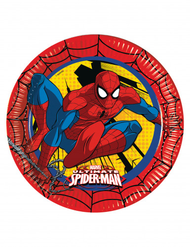 8 Assiettes en carton Ultimate Spiderman™