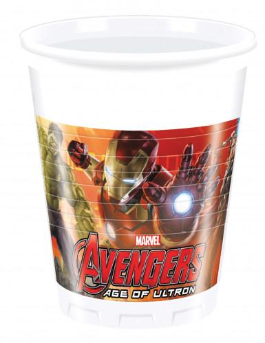 8 Gobelets en plastique Avengers l'Ère d'Ultron™ 200ml