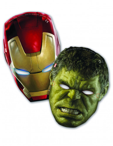 6 Masques Hulk et Iron Man Avengers l'Ère d'Ultron™