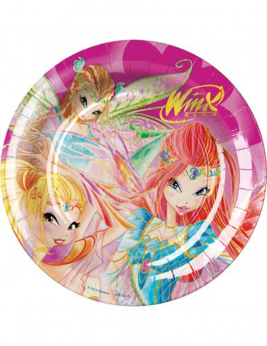 8 Assiettes en carton Winx Club™ 23 cm
