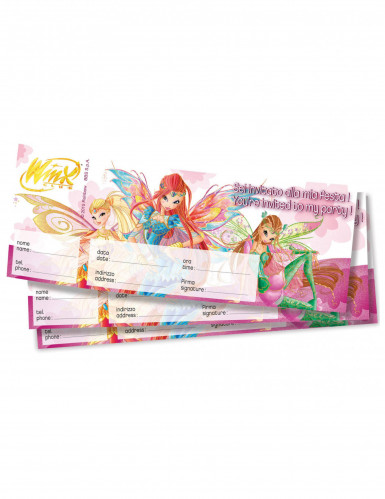 20 Billets d'invitation Winx Club™