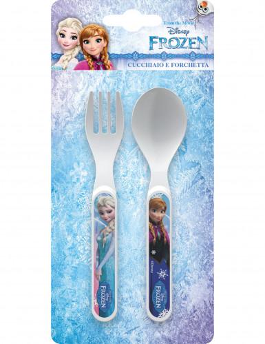 Couverts en plastique La Reine des Neiges™-1
