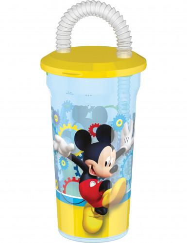 Verre en plastique avec paille Mickey™ 45 cl