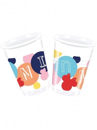 8 Gobelets en plastique Minnie™ 200ml
