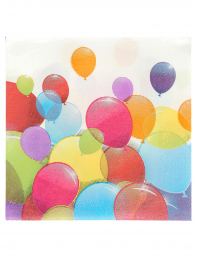 20 Serviettes ballons volants