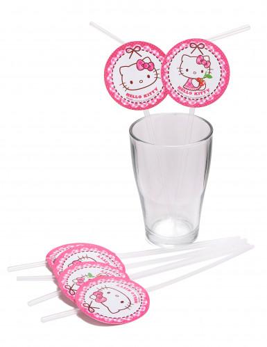 6 Pailles médaillon Hello Kitty™-1
