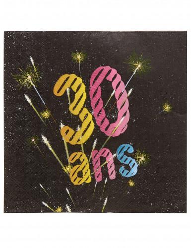 20 Serviettes papier 30 ans Feux d'artifice 33 x 33 cm