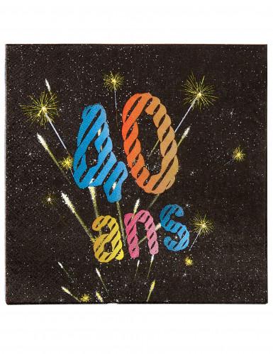 20 Serviettes en papier Anniversaire feux d'artifice 40 ans