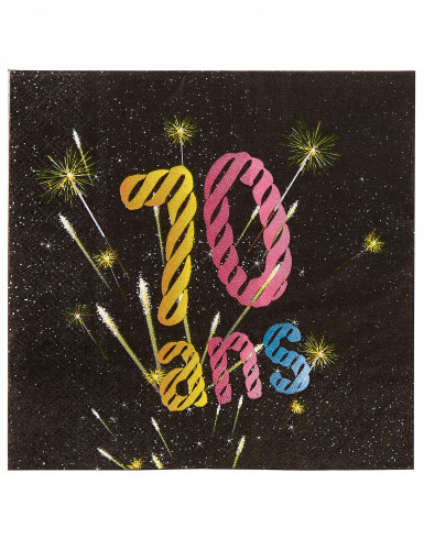 20 Serviettes papier 70 ans Feux d'artifice 33 x 33 cm