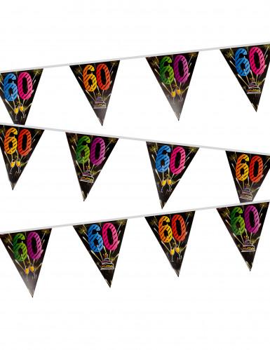 Guirlande fanions Anniversaire Feux d'artifice 60 ans 7 m