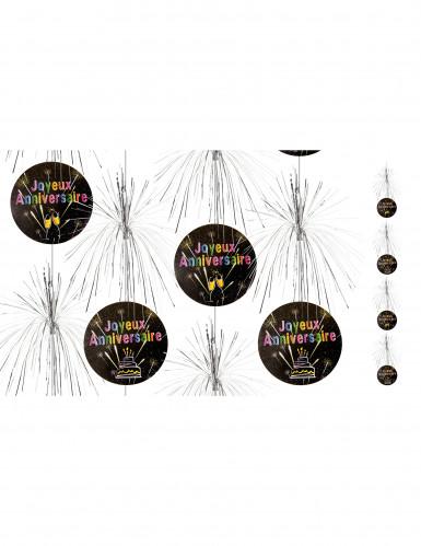 Suspensions cascade Joyeux anniversaire Feux d'artifice 180 cm