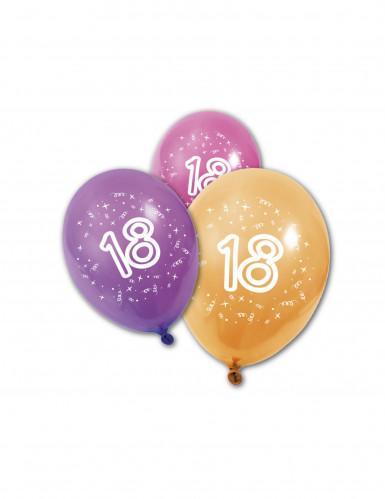 8 Ballons en latex anniversaire 18 ans