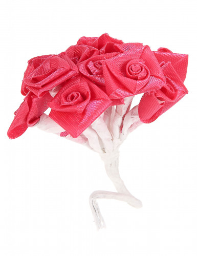72 Mini roses satin fuchsia-1