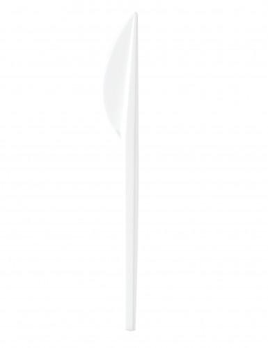 100 couteaux en plastique blanc 16,5 cm