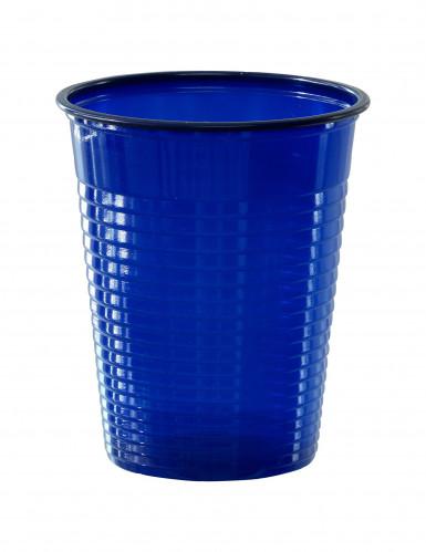 50 Gobelets en plastique bleu marine 20 cl