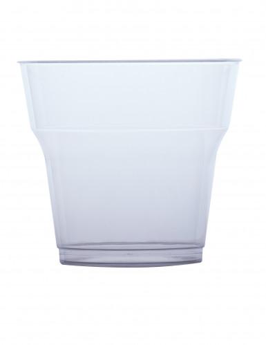 10 Gobelets en plastique transparent 25 cl