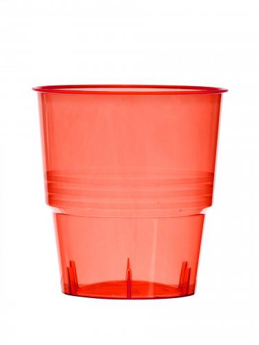 10 Gobelets en plastique rouge 25 cl