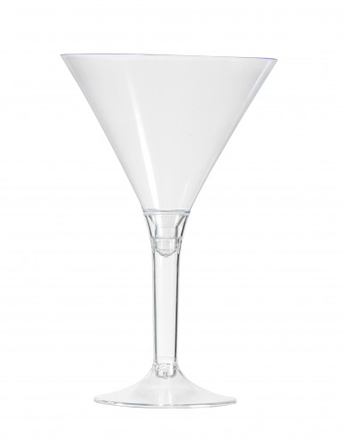 6 Verres à pied cocktail transparent 14 cm