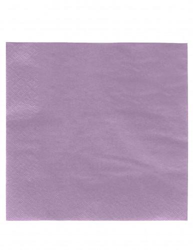 50 Serviettes lilas 38 x 38 cm