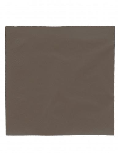 50 Serviettes chocolat 38 x 38 cm